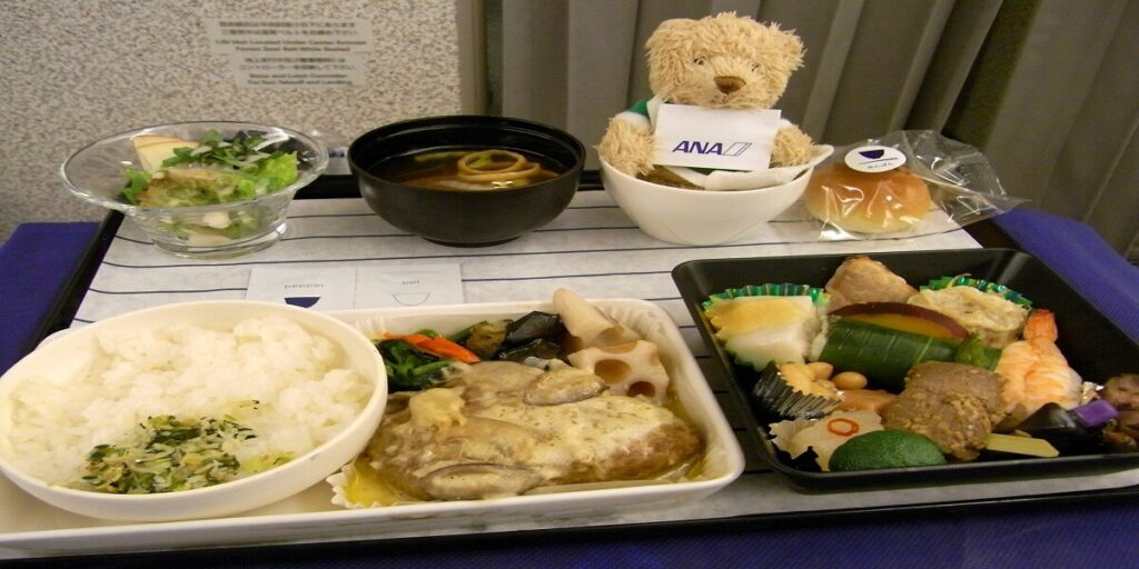 ANA Airlines Inflight business class meal