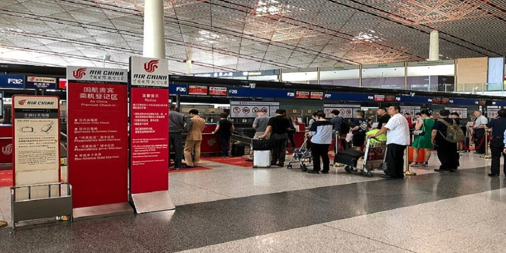 Air China Airline Check-in & Boarding