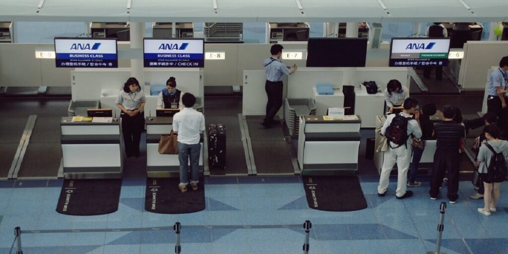 All Nippon Airways Check-in counters at Tokyo HND Airport