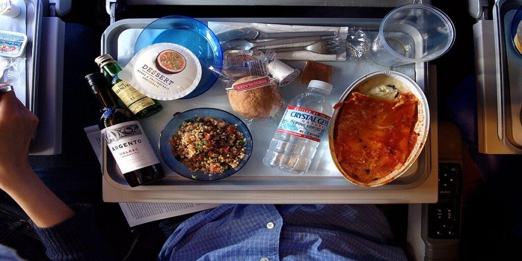 British Airways in flight meal