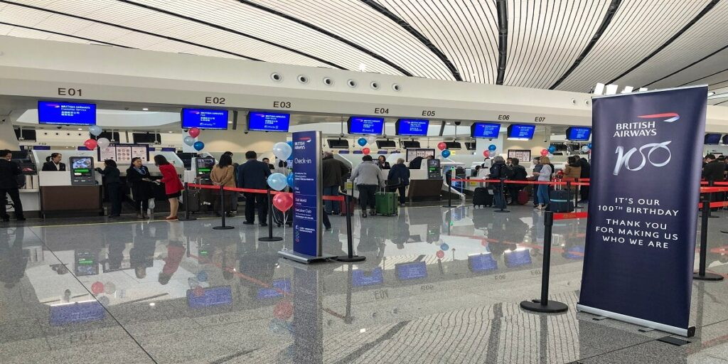 British Airways_check in counters at ZBAD
