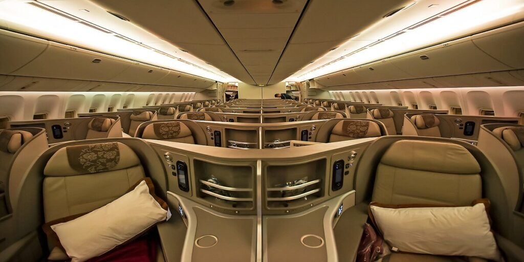 Business class cabin of China Eastern's