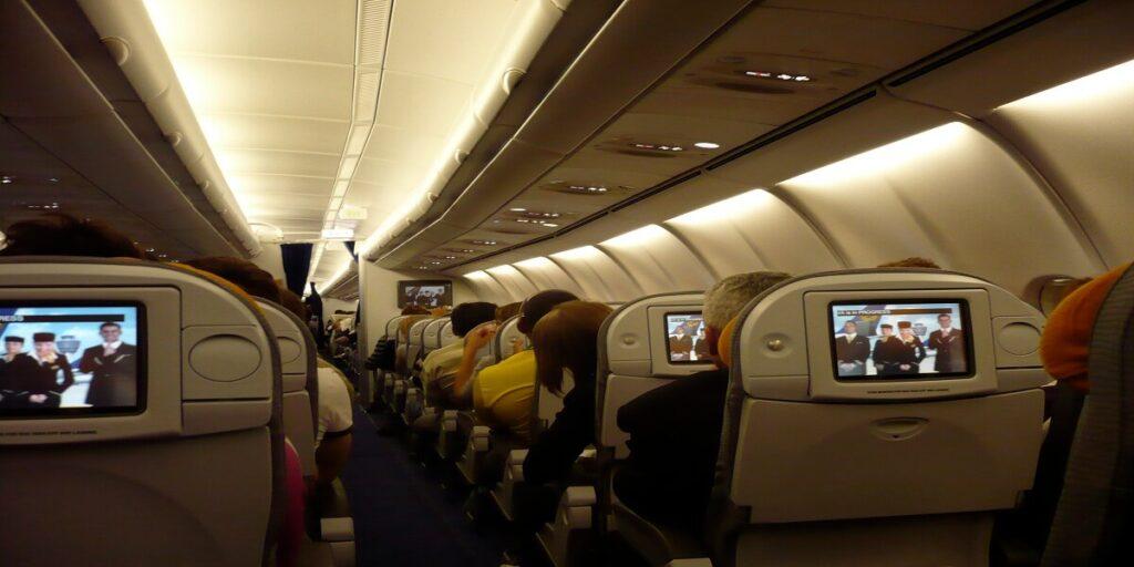Lufthansa A340-600 Economy In-flight Entertainment
