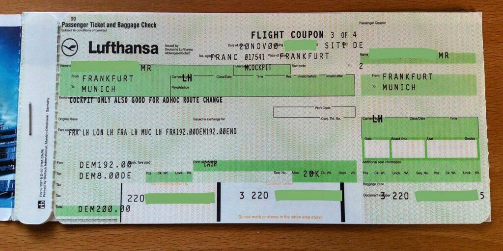 Lufthansa Ticket