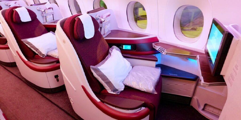 Qatar Airway Business Class seat