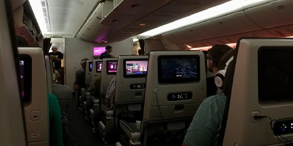 Qatar Airway Economy Cabin In-flight Entertainment