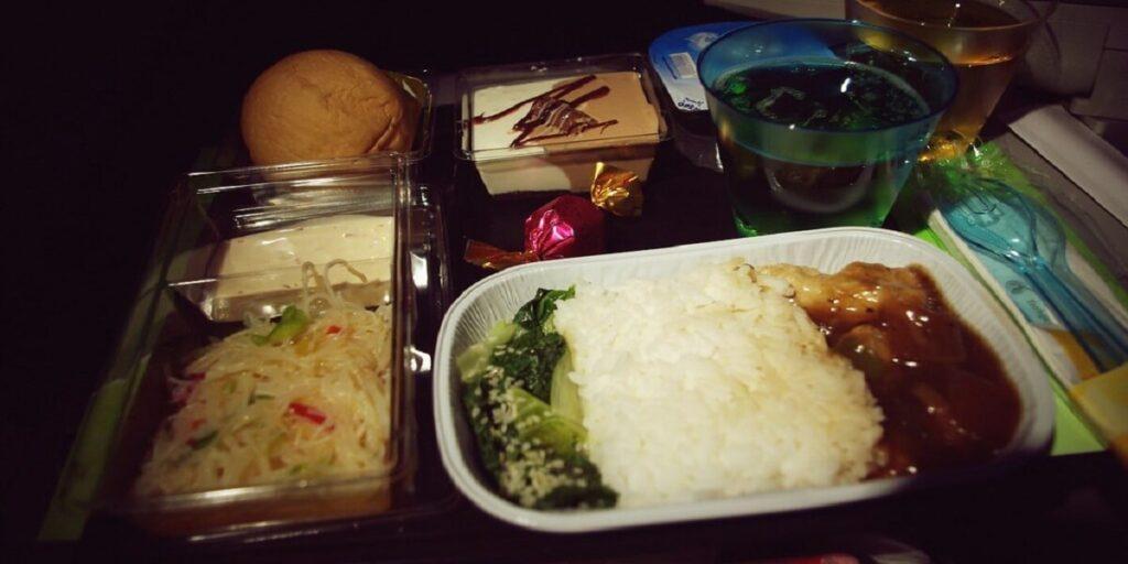 Qatar Airways Economy Class In-flight Meal