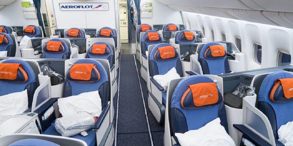Aeroflot Boeing 777-300ER Business Class Cabin Seats