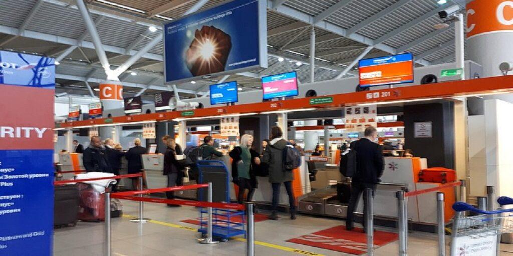 Aeroflot check-in at Chopin Airport