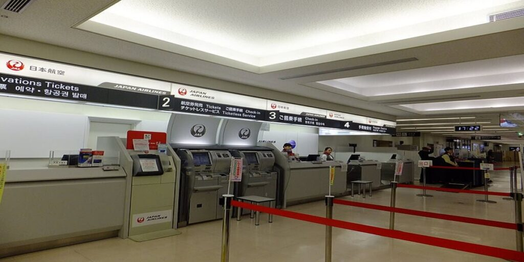Japan Airline Check-in Counter in Hanamaki Airport