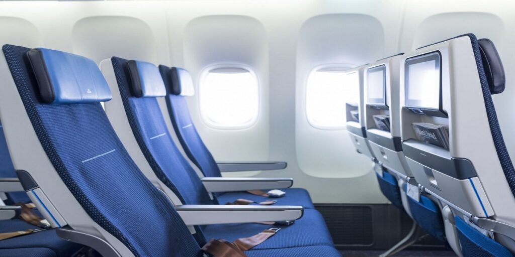 KLM Airlines seat