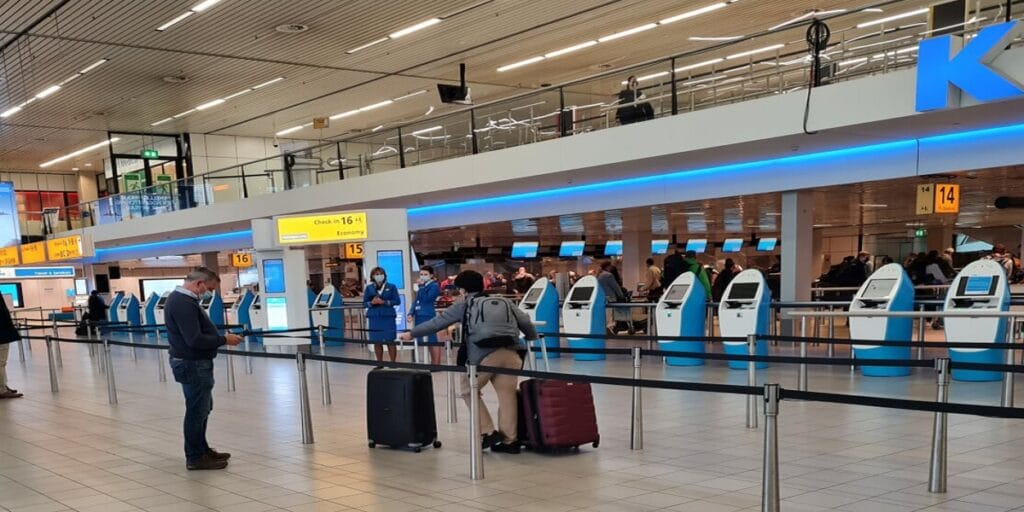 KLM Airlines check-in