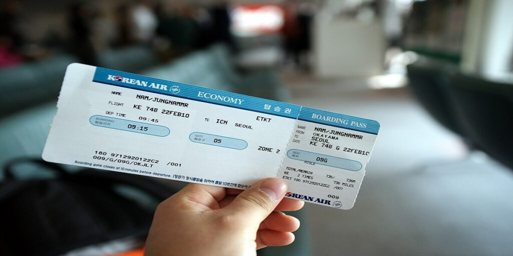 Korean Air Boarding pass