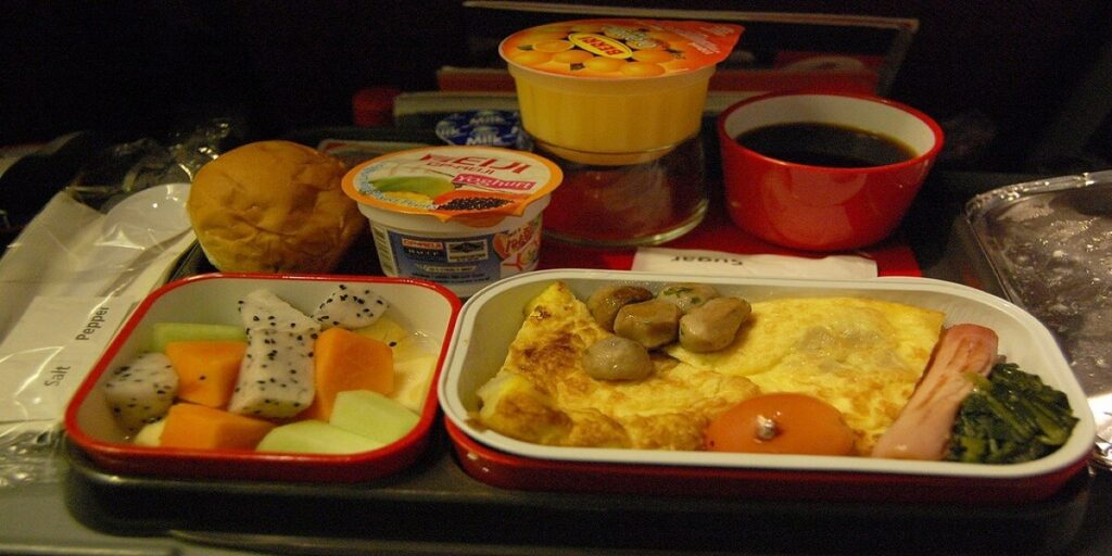 Qantas Airline Breakfast
